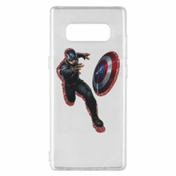 Чехол для Samsung Note 8 Captain america with red shadow