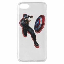Чехол для iPhone 8 Captain america with red shadow