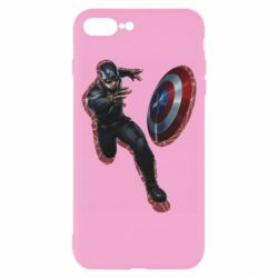 Чехол для iPhone 8 Plus Captain america with red shadow
