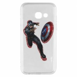 Чехол для Samsung A3 2017 Captain america with red shadow