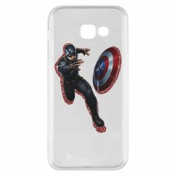 Чехол для Samsung A5 2017 Captain america with red shadow