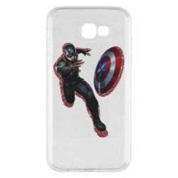 Чехол для Samsung A7 2017 Captain america with red shadow