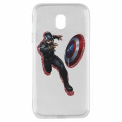 Чехол для Samsung J3 2017 Captain america with red shadow