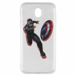 Чехол для Samsung J7 2017 Captain america with red shadow