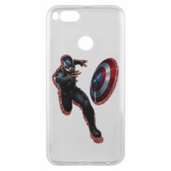 Чехол для Xiaomi Mi A1 Captain america with red shadow