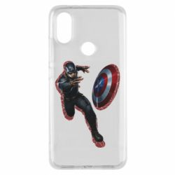Чехол для Xiaomi Mi A2 Captain america with red shadow