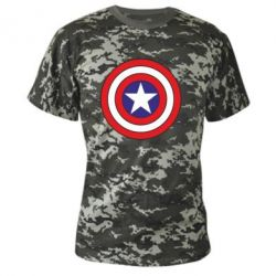 Камуфляжная футболка Captain America - FatLine