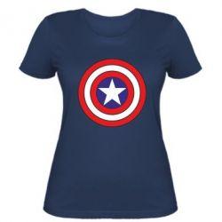 Женская футболка Captain America - FatLine