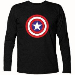 Футболка с длинным рукавом Captain America - FatLine