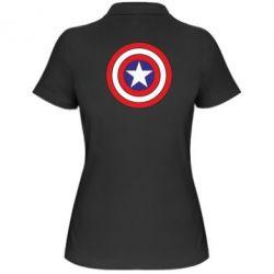 Женская футболка поло Captain America - FatLine