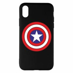 Чехол для iPhone X/Xs Captain America