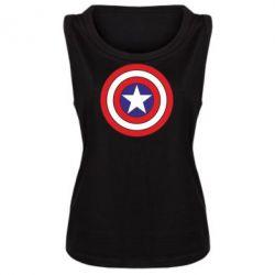 Женская майка Captain America - FatLine