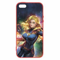 Купить Чехол для iPhone5/5S/SE Captain marvel art background space, FatLine