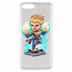 Чехол для Xiaomi Mi Note 3 Captain marvel hovers in the air
