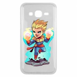 Чехол для Samsung J5 2015 Captain marvel hovers in the air