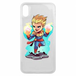 Чехол для iPhone Xs Max Captain marvel hovers in the air