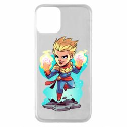 Чехол для iPhone 11 Captain marvel hovers in the air
