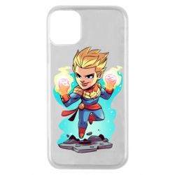 Чехол для iPhone 11 Pro Captain marvel hovers in the air