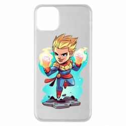 Чехол для iPhone 11 Pro Max Captain marvel hovers in the air