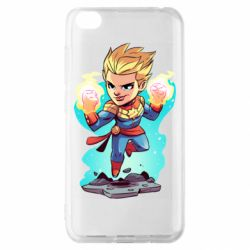 Чехол для Xiaomi Redmi Go Captain marvel hovers in the air