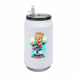 Термобанка 350ml Captain marvel hovers in the air