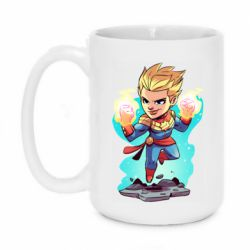 Кружка 420ml Captain marvel hovers in the air