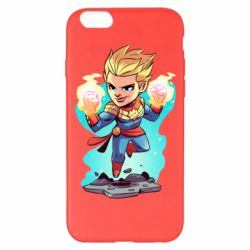 Чехол для iPhone 6 Plus/6S Plus Captain marvel hovers in the air