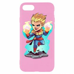 Чехол для iPhone 7 Captain marvel hovers in the air