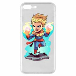 Чехол для iPhone 7 Plus Captain marvel hovers in the air