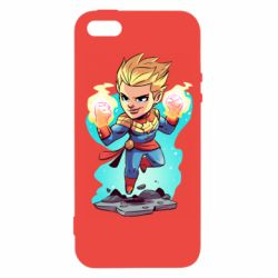 Чехол для iPhone5/5S/SE Captain marvel hovers in the air