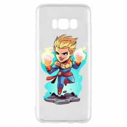 Чехол для Samsung S8 Captain marvel hovers in the air
