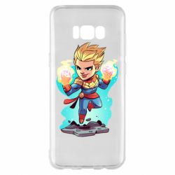 Чехол для Samsung S8+ Captain marvel hovers in the air