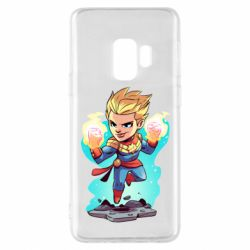 Чехол для Samsung S9 Captain marvel hovers in the air