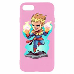 Чехол для iPhone 8 Captain marvel hovers in the air