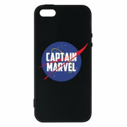Чохол для iphone 5/5S/SE Captain Marvel in NASA style