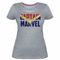 Жіноча стрейчева футболка Captain marvel inside star