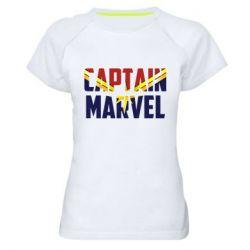 Жіноча спортивна футболка Captain marvel inside star
