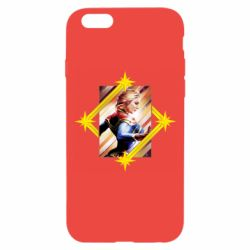 Чехол для iPhone 6/6S Captain marvel low poly