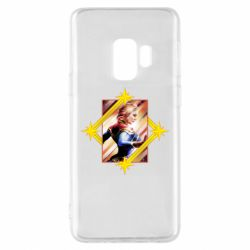 Чехол для Samsung S9 Captain marvel low poly
