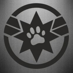 Наклейка Captain Marvel's Cat