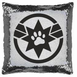 Подушка-хамелеон Captain Marvel's Cat