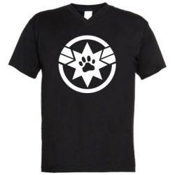 Чоловіча футболка з V-подібним вирізом Captain Marvel's Cat