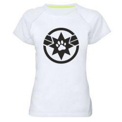 Жіноча спортивна футболка Captain Marvel's Cat