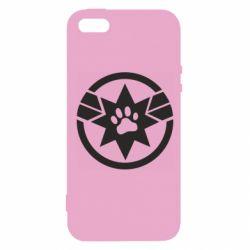 Купить Капитан Марвел, Чехол для iPhone5/5S/SE Captain Marvel's Cat, FatLine