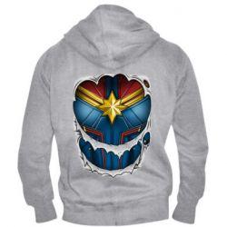 Чоловіча толстовка на блискавці Captain Marvel's Costume
