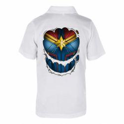 Дитяча футболка поло Captain Marvel's Costume