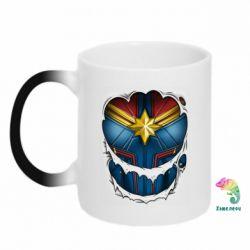 Кружка-хамелеон Captain Marvel's Costume