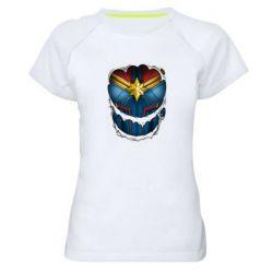 Жіноча спортивна футболка Captain Marvel's Costume