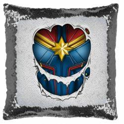 Подушка-хамелеон Captain Marvel's Costume