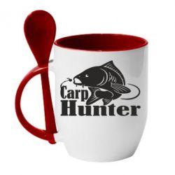 Кружка з керамічною ложкою Carp Hunter
